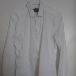 TOPMAN Muscle Fit Button Dress Shirt Medium